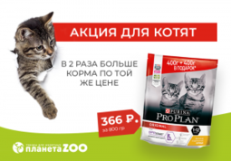 Акция для котят от Pro Plan