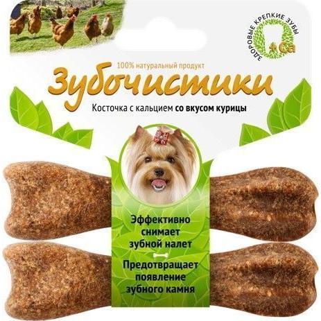 Лакомство для собак Зубочистики для мелких пород Деревенские лакомства Курица 2 шт