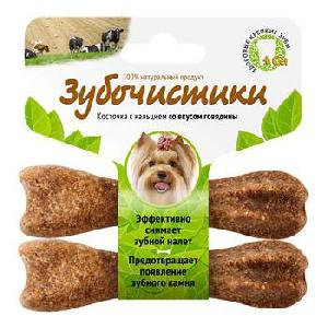 Лакомство для собак Зубочистики для мелких пород Деревенские лакомства Говядина 2 шт