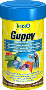 Корм хлопья для гуппи и других живородящих рыб TETRA Guppy
