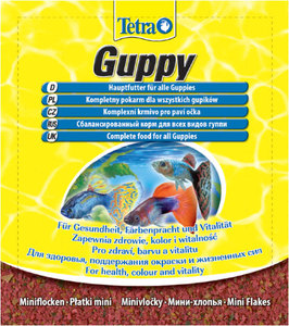 Хлопья корм для гуппи и других живородящих TETRA Guppy