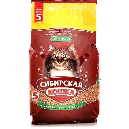 Наполнитель для кошачьего туалета Сибирская Кошка УНИВЕРСАЛ впитывающий