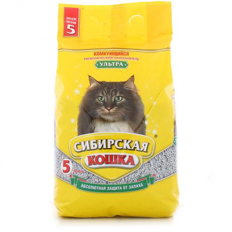 Наполнитель для кошачьего туалета Сибирская Кошка УЛЬТРА комкующийся