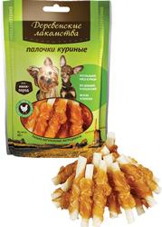 Лакомство для собак Палочки куриные для мелких пород Деревенские лакомства