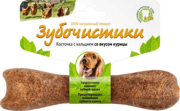 Лакомство для собак Зубочистики для средних пород Деревенские лакомства Курица