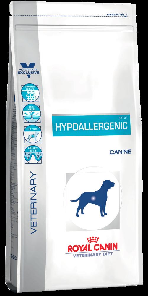 Ветеринарный сухой корм для собак Роял Канин (Royal Canin) Hypoallergenic DR 21