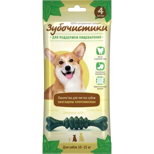 Лакомство для собак Зубочистики для средних пород Деревенские лакомства Мята
