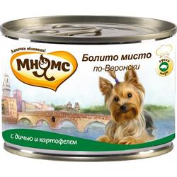 Влажный корм для собак Мнямс Болито мисто по-Веронски Дичь/картофель
