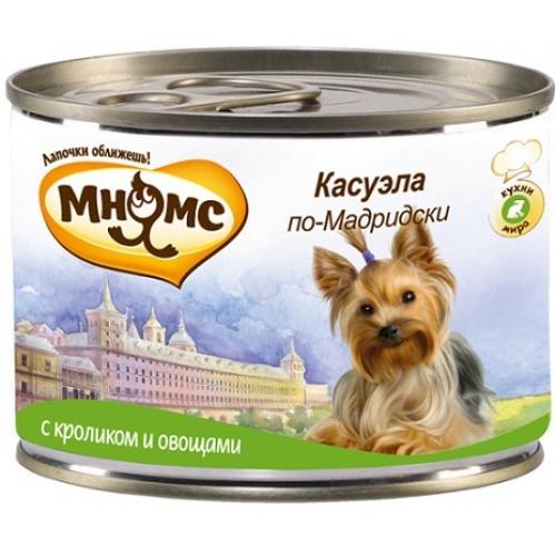 Влажный корм для собак Мнямс Касуэла по-Мадридски, кролик и овощи, 200 гр
