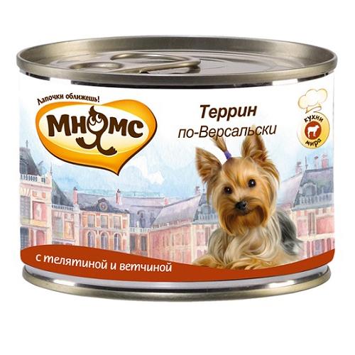 Влажный корм для собак Мнямс Террин по-Версальски, телятина и ветчина, 200 гр