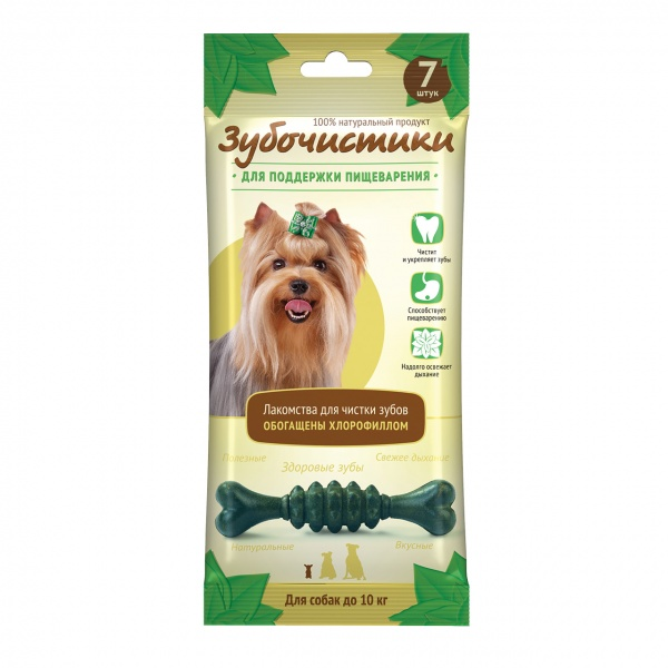 Лакомство для собак Зубочистики для мелких пород Деревенские лакомства Мята