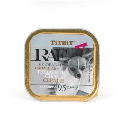 Влажный корм для собак RAF (Раф), баранина, 100 гр