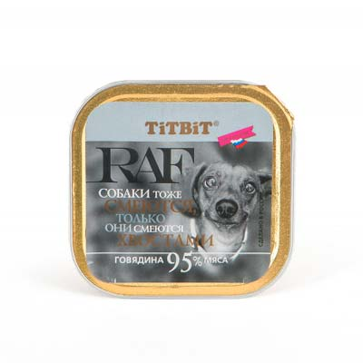 Влажный корм для собак RAF (Раф), говядина, 100 гр
