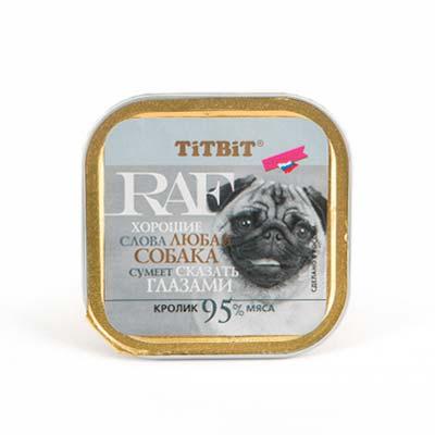 Влажный корм для собак RAF (Раф), кролик, 100 гр