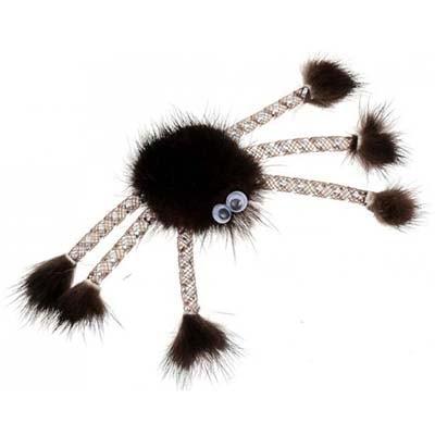 Дразнилка для кошек GoSi Паук-2 из натуральной норки