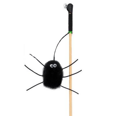 Дразнилка на палке для кошек GoSi Паук -2 из натуральной норки
