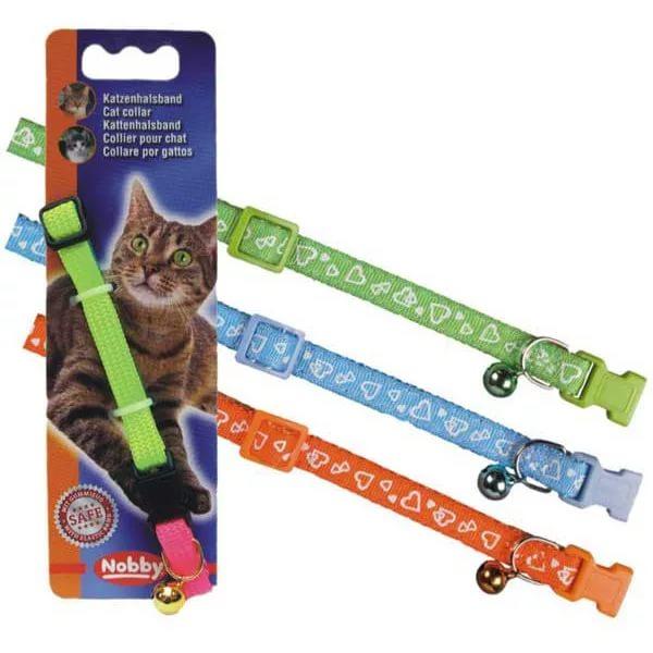 Ошейник для кошек СЕРДЕЧКИ зеленый