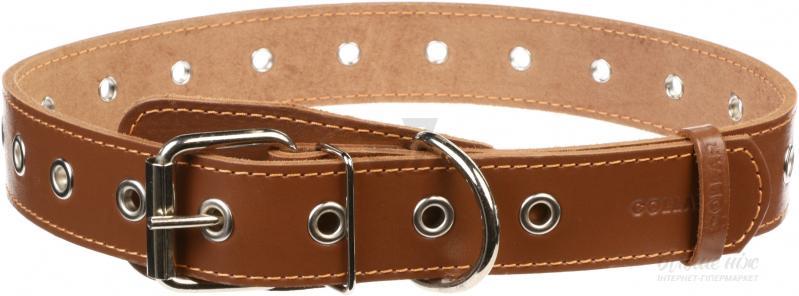 Ошейник для собаки collar безразмерный 35 мм 69 см коричн.