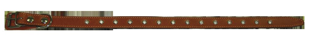 Кожаный ошейник для собаки 25 наша рр