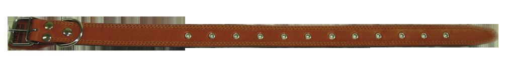 Кожаный ошейник для собаки 35 универс. наша рр