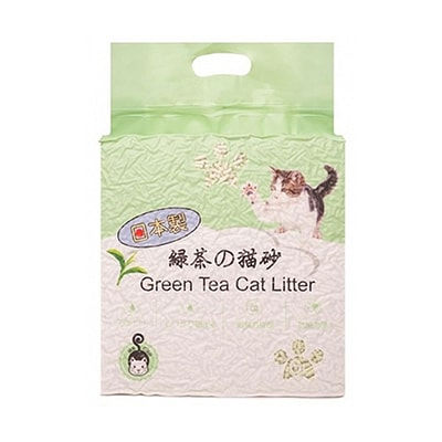 Кошачий наполнитель HAKASE AREKKUSU комкующийся, зеленый чай