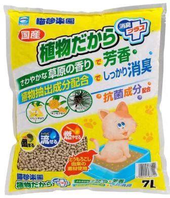 Наполнитель для кошачьего туалета Японский комкующийся