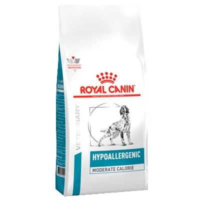 Ветеринарный сухой корм для собак Роял Канин (Royal Canin) Hypoallergenic Moderate Calorie ХМЕ с пищевой аллергией