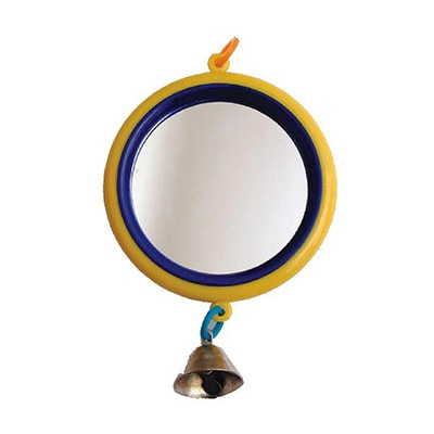 Зеркало большое для птиц Дарэлл с колокольчиком