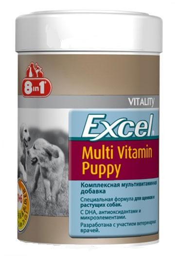 Мультивитамины для щенков 8 в 1 Эксель 185мл 100таб