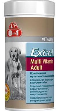 Мультивитамины для взрослых собак 8 в 1 Эксель 250мл 70таб