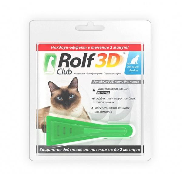 Капли против блох для кошек Rolf Club Рольф Клуб  (1 пипетка)