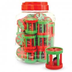 Игрушка для кошки зеленый/красный с шариком внутри triol (триол) 45мм