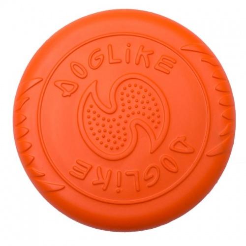 Игрушка для собак Doglike Тарелка летающая, оранжевая