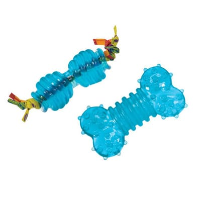 """Petstages набор игрушек для собак мелких пород """"Орка косточка, гантель"""" ультра-мини, 2 шт"""