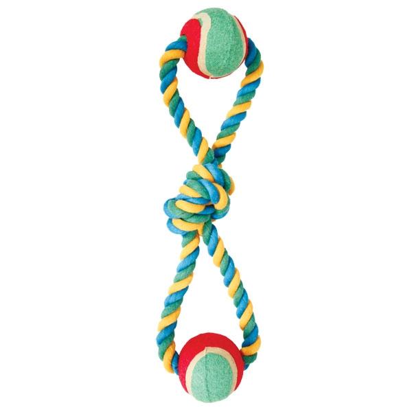 """Грейфер веревка  цветная восьмерка  узлы 2 мяча 13"""" triol (триол)"""