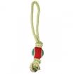 Грейфер веревка  цветная длинная с мячом   triol (триол)