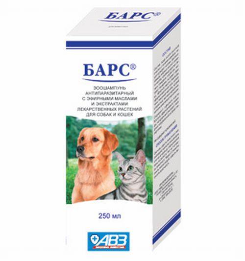 Шампунь от блох БАРС для кошек, собак 250 мл