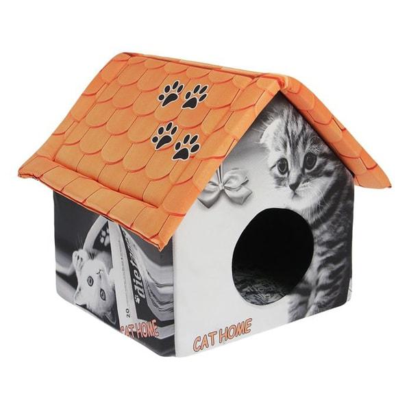 Домик для кошки размеры 33*33*40 с газетой
