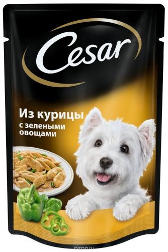Влажный корм для собак Цезарь (CESAR) Курица с зелеными овощами
