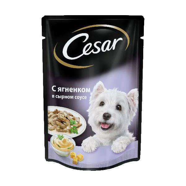 Влажный корм для собак Цезарь (CESAR) Ягненок в сырном соусе