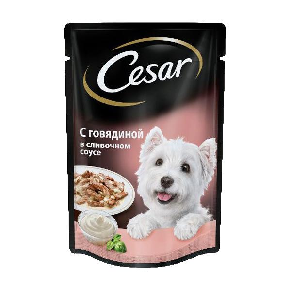 Влажный корм для собак Цезарь (CESAR) Говядина в сливочном соусе