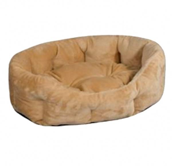 """Лежак для кошек и собак """"PUMA"""" Zoo-M овальный с подушкой"""