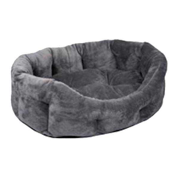 """Лежак для кошек и собак """"PUMA"""" Zoo-M овальный с подушкой серый"""