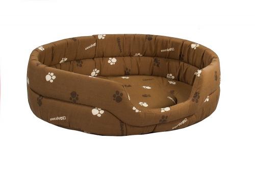 Лежак для кошки овальный коричневый