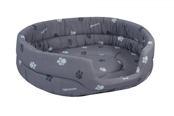 Лежак для кошек и собак Дарэлл овальный стёганый