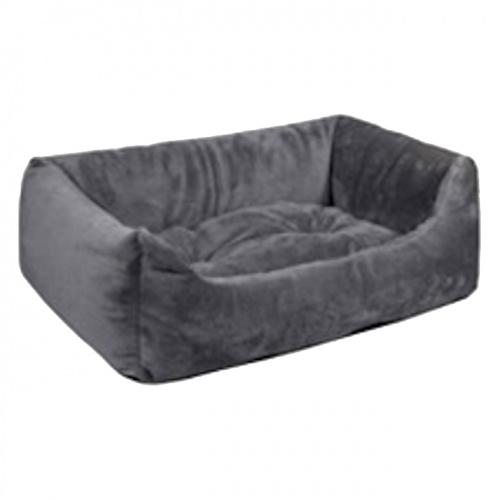 """Лежак для кошек и собак """"LION"""" Zoo-M прямоугольный серый"""
