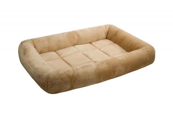 Лежак для кошек и собак LAMA Zoo-M с валиком бежевый