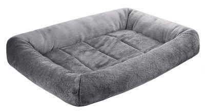 Лежак для кошек и собак LAMA Zoo-M с валиком серый