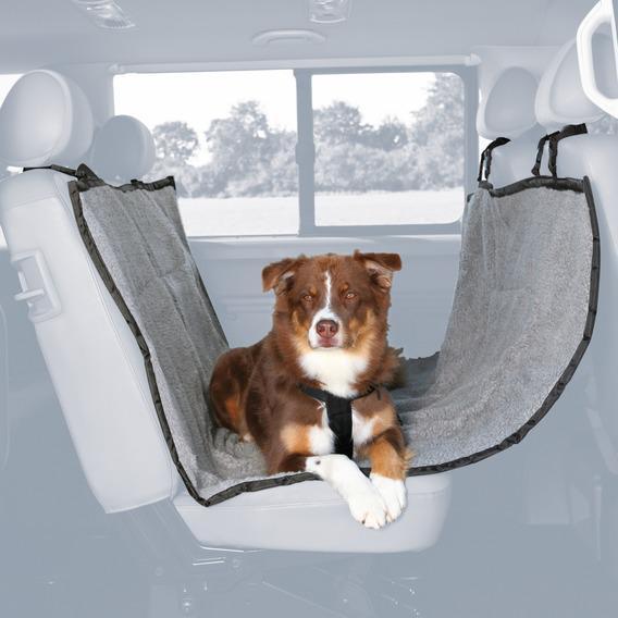 Подстилка для собак trixie (трикси) в машину 145*160 см серый черный