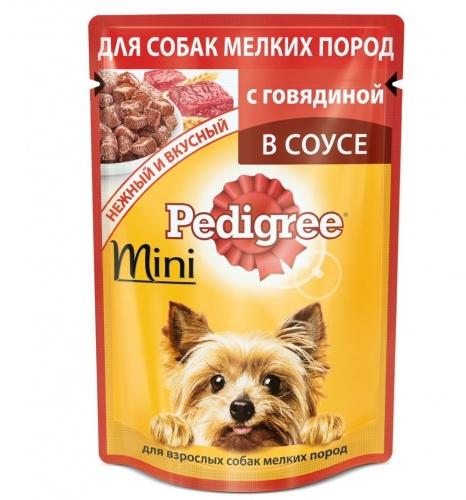 Влажный корм для собак мелких пород Педигри (Pedigree) мини Говядина